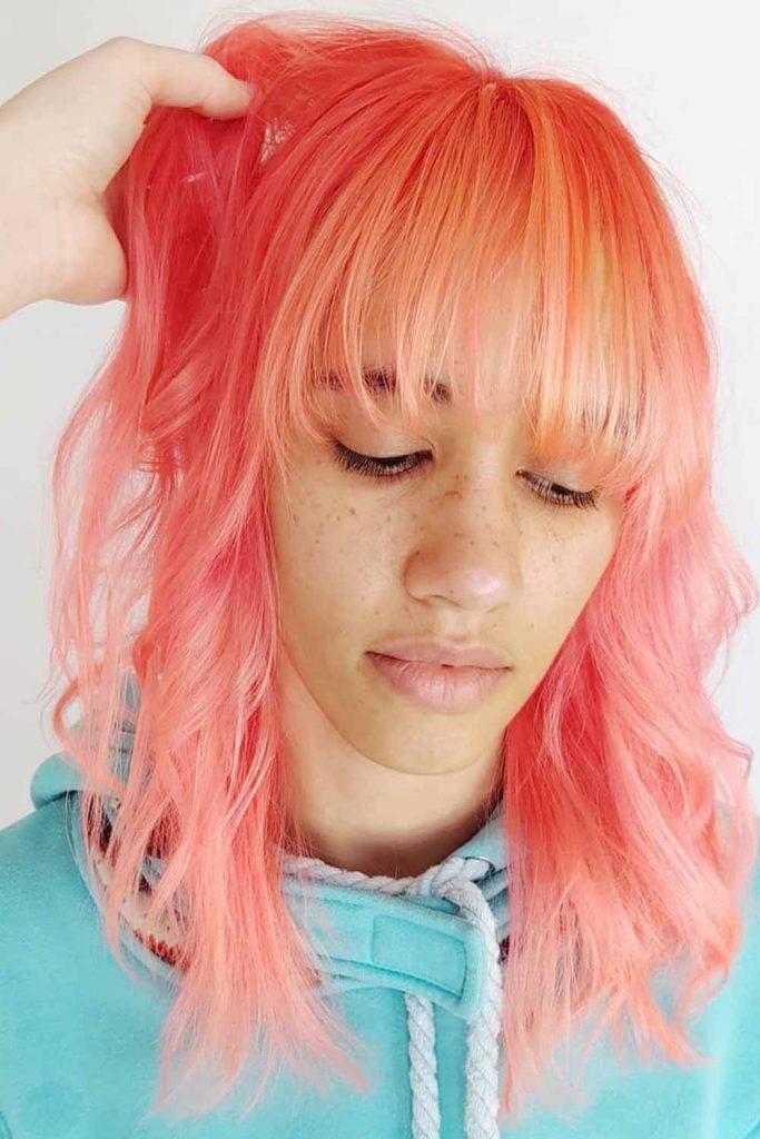 Pink Rainbow Hair