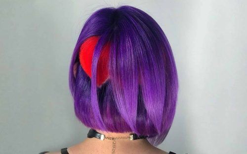 Bold And Provocative Dark Purple Hair Color Ideas