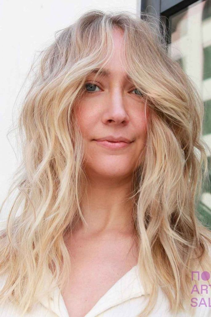 Light Sandy Blonde With Waves