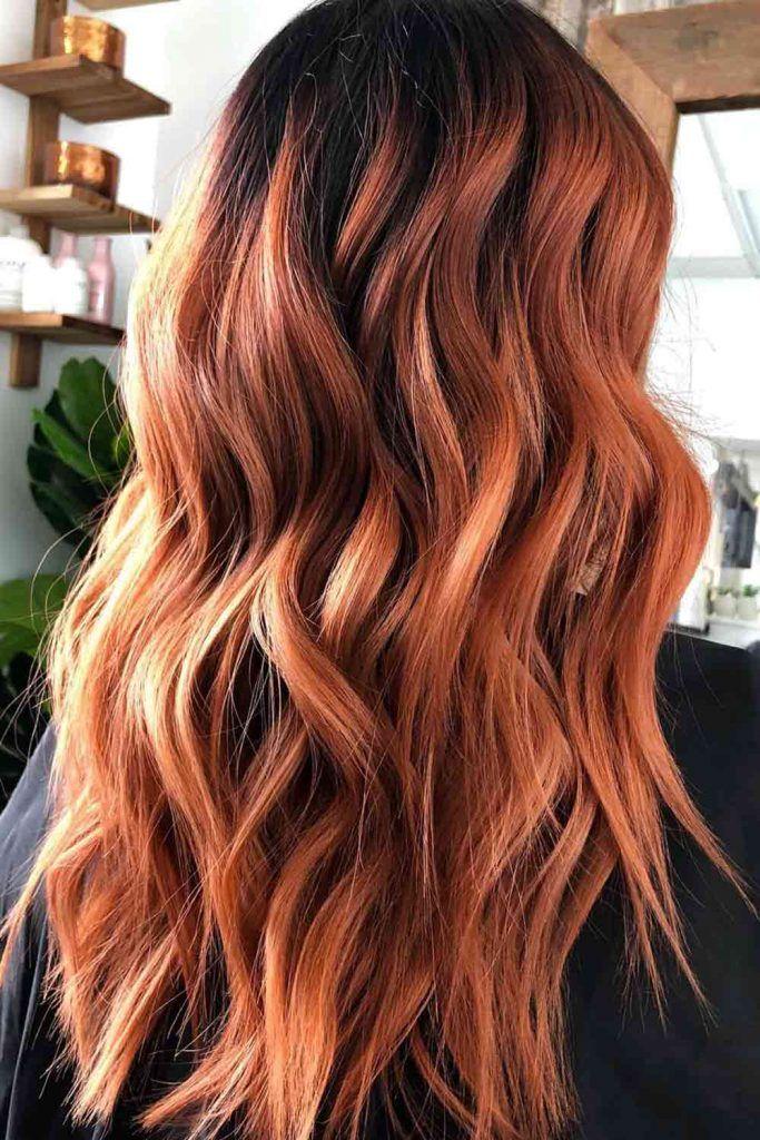 Ginger Hair Balayage