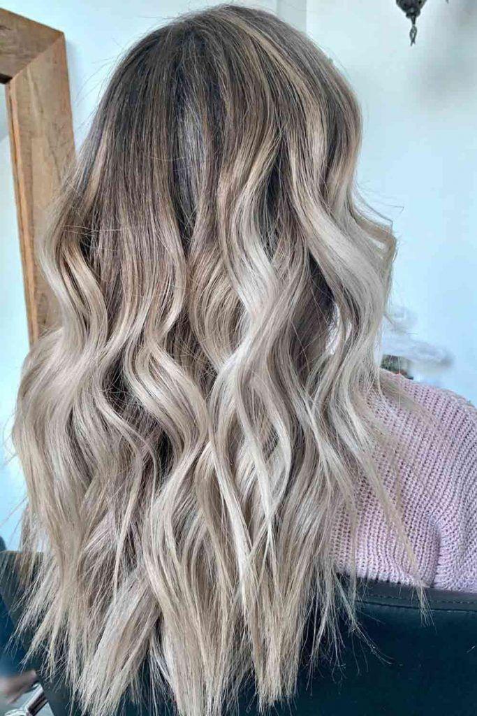 Pale Brown Balayage Hairstyle