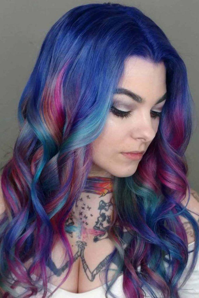 Majorelle Blue Hair