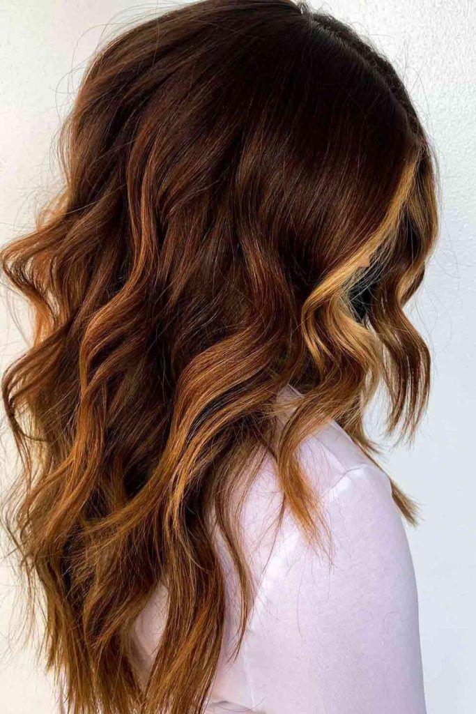 Dark Brown Auburn Hair