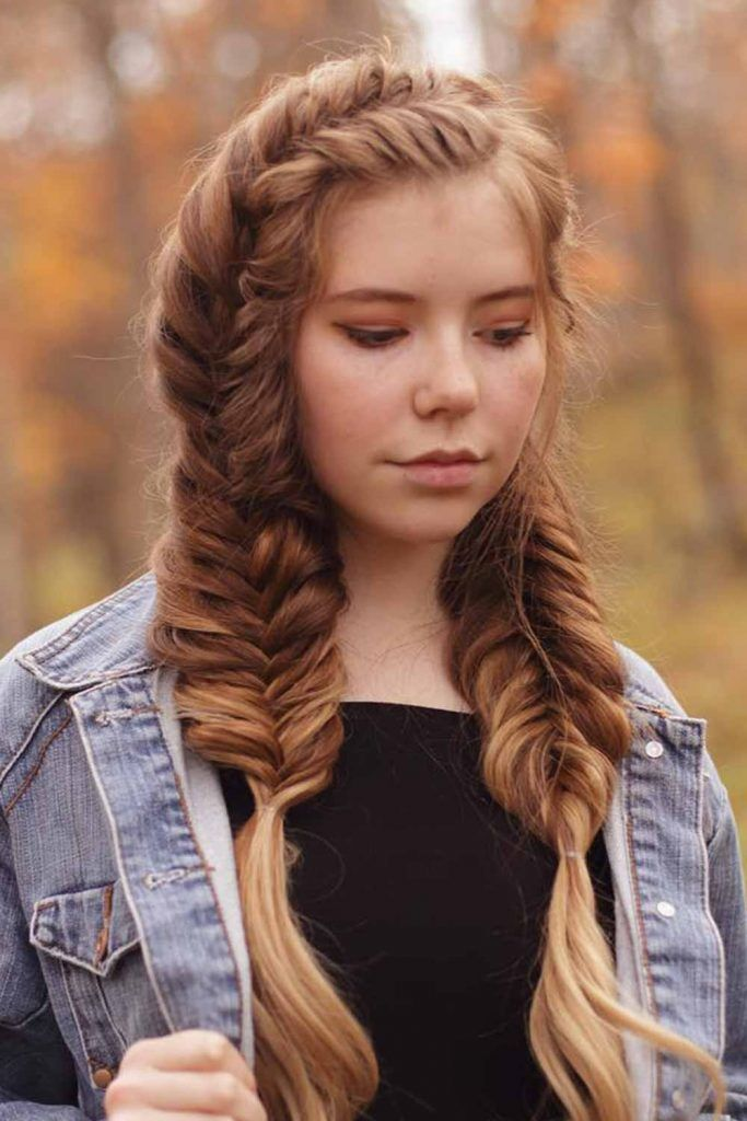 Double Fishtail Braids Hairstyles