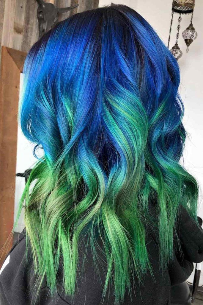 Blue To Neon Green