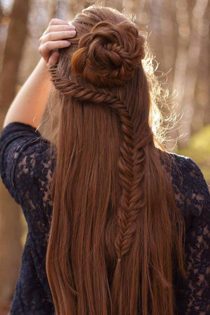 Waterfall Braids With Rosettes