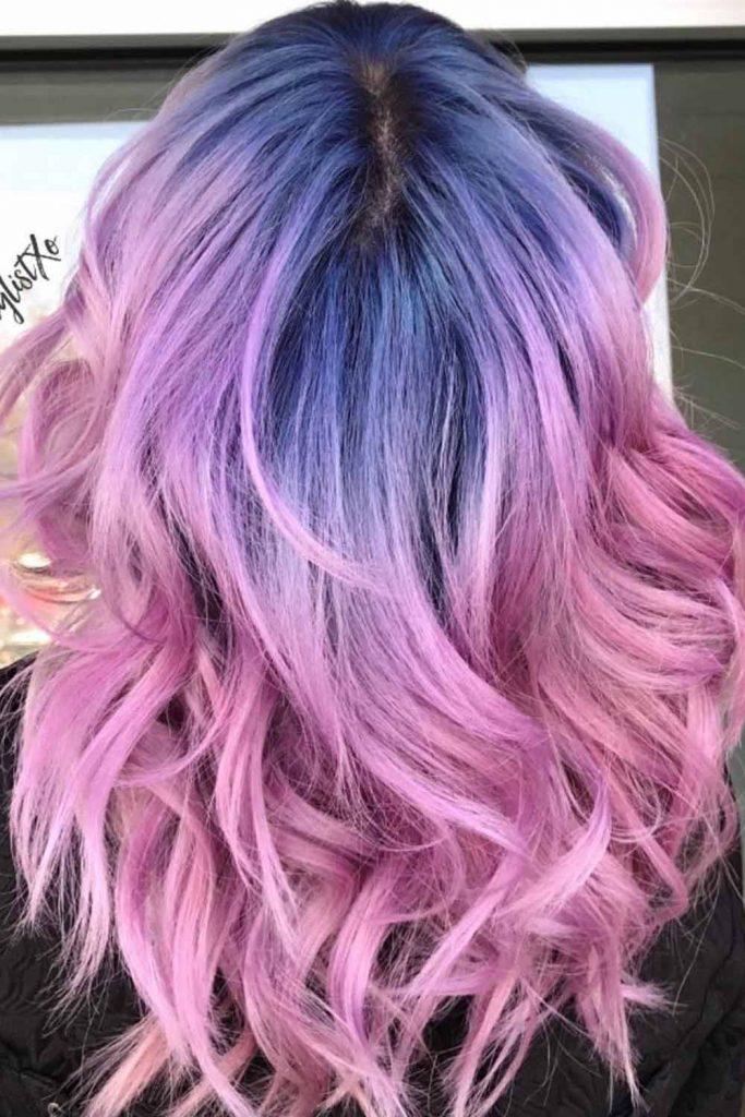 Half-Lavender Half-Pink Color