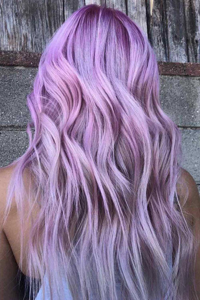Light Lavender Hair Color With Intense Ends