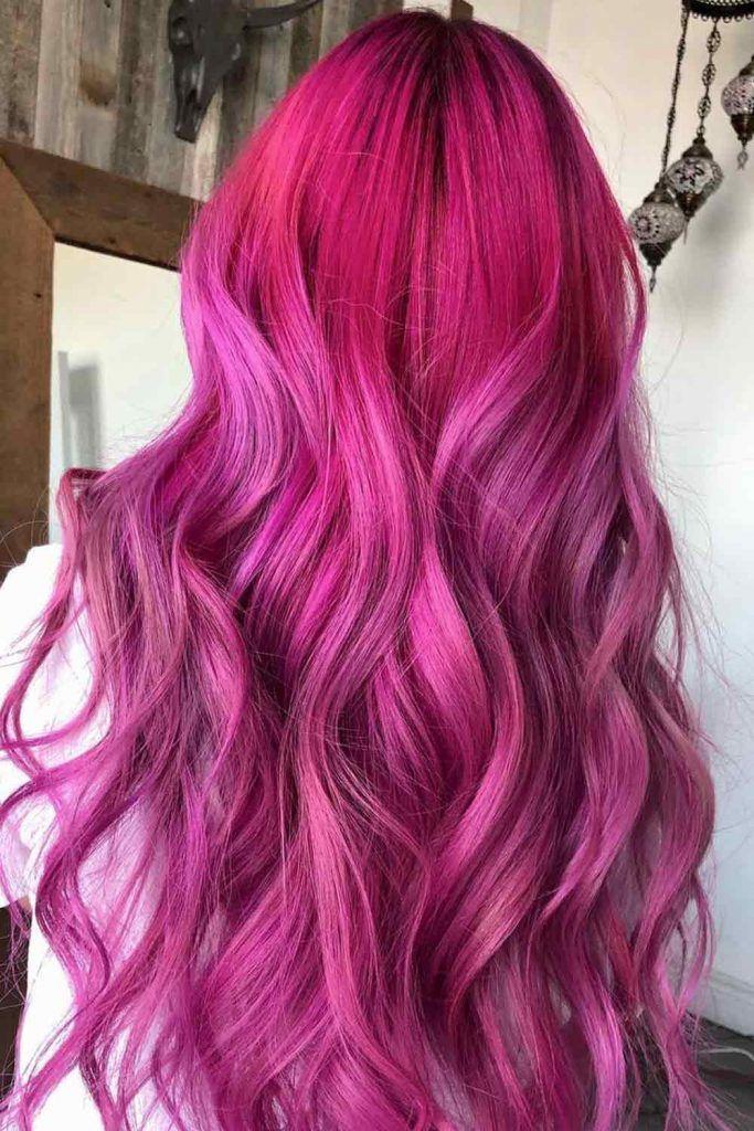 Fuchsia Oil Slick Hair