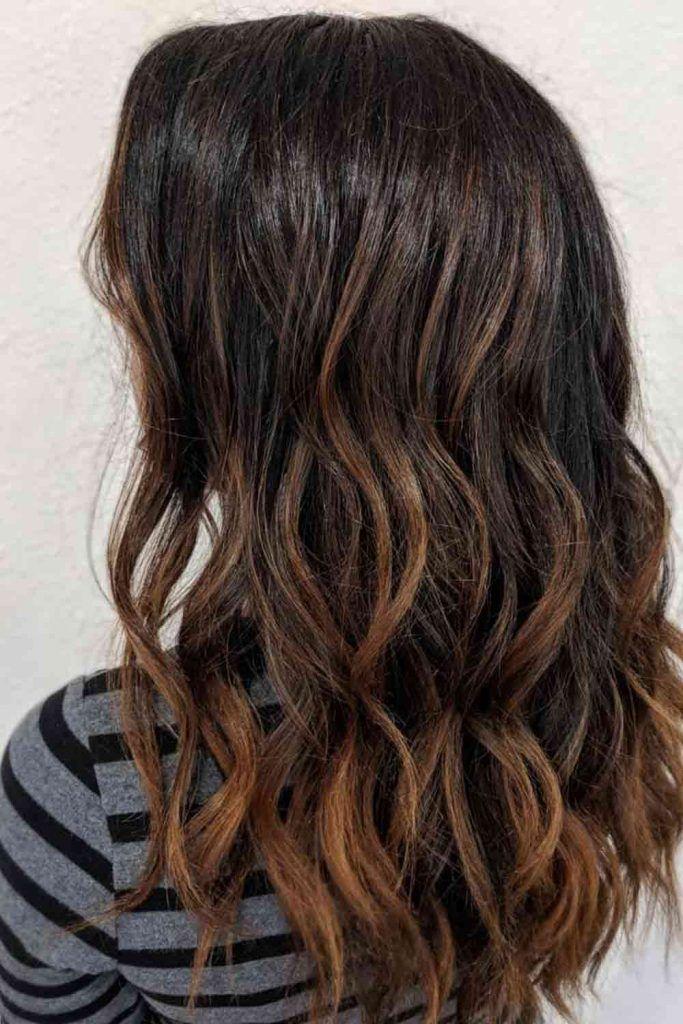 Black With Auburn Ombre Hair