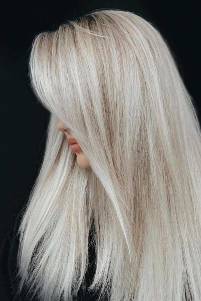 Cold To Warm Blonde Ombre For Platinum Hair