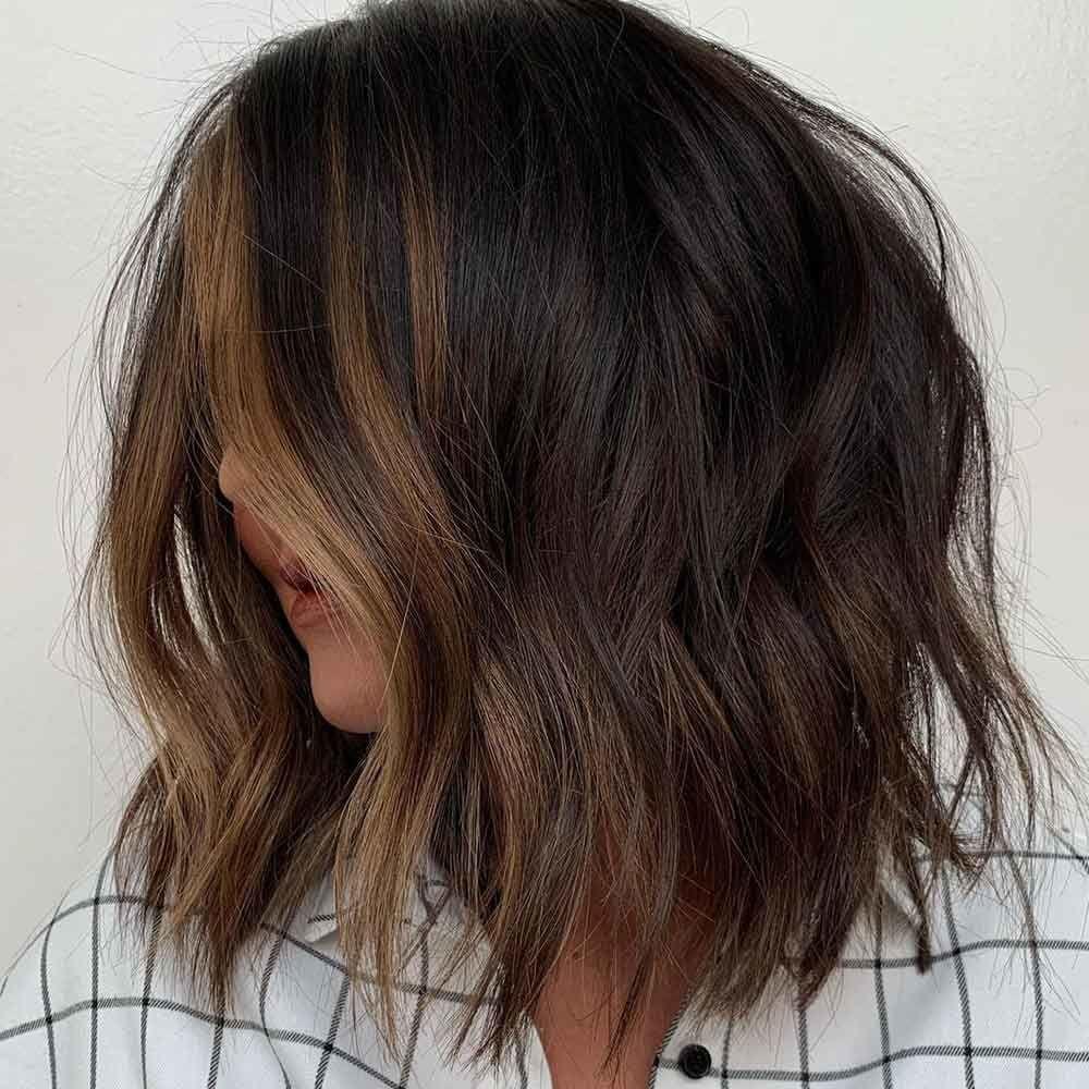 Shatush On Brunette Hair