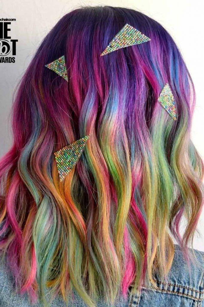Dark Purple To Light Rainbow